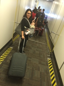 Baby Wearing while boarding a plane
